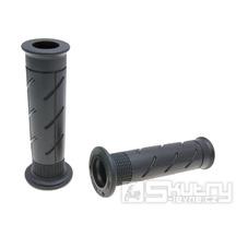 Gripy Domino 0280 On-Road v černém provedení s otevřeným koncem o délce 120mm