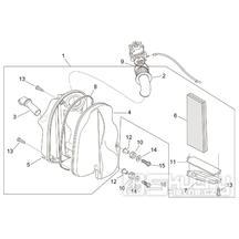 28.22 Airbox vzduchového filtru - Scarabeo 100 2T (motor Minarelli) 2000 - ZD4REA...