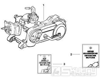 1.02 Motor - Gilera DNA 50ccm 2T od 2006 (ZAPC27000...)