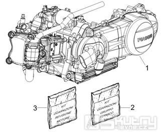 1.02 Motor, těsnění motoru - Gilera Runner 200 ST 4T LC 2008-2011 (ZAPM46401)