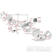 E01 Skříň klikové hřídele - Kymco Xciting 500i R ABS