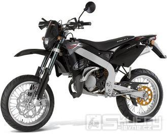 Rieju SMX 50 Top Supermoto - barva černá