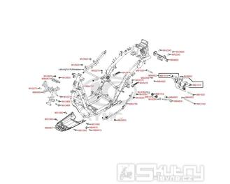 F19 Rám - Kymco Grand Dink 125i SP25AA