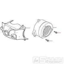 E01 Kryt motoru - Kymco Maxxer 50