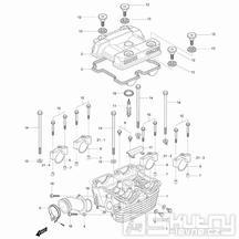 01h Hlava válce zadní - Hyosung GV 125M Aquila E3