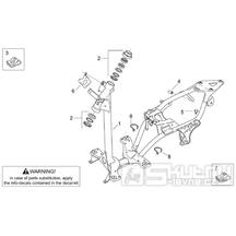 28.01 Rám - Scarabeo 50 2T (motor Minarelli) 1999 - ZD4PF04, ZD4PF05, ZD4PFF0, ZD4PFG