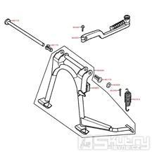 F16 Hlavní stojan / nakopávací páka - Kymco Super 9 AC 50