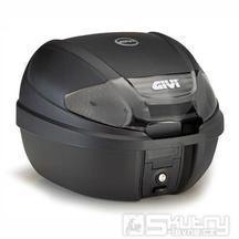 E 300NT TECH kufr GIVI černý s čirými odrazkami (Monolock s vlastní plotnou), objem 30 litrů