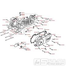 E01 Kryt variátoru / Skříň klikové hřídele - KymcoSento 50