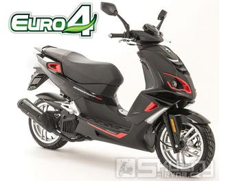 Peugeot Speedfight 4 125i  E4 - barva černá/červená