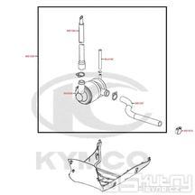 F21 Sekundární vzduchový systém - Kymco DJ 125 S KN25GA