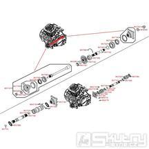 Výstupní hřídele převodovky - Kymco MXU 450i LC90AE