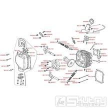 E02 Hlava válce a ventilové víko - Kymco Like 125 KN25AA