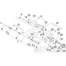 4.01 Uložení motoru - Gilera Nexus 125ie 4T LC 2008 (ZAPM35700)