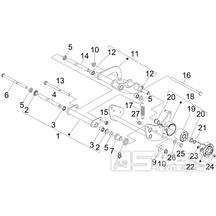 4.01 Uložení motoru - Gilera Nexus 125ie 4T LC 2009 (ZAPM35700)