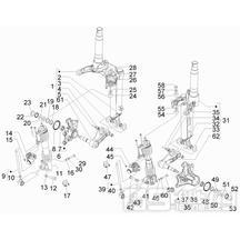 4.07 Zavěšení předních kol - Gilera Fuoco 500ccm 4T-4V ie E3 LT od 2013 (ZAPM83100...)