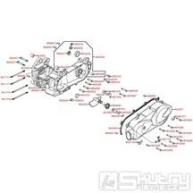 E01 Kliková skříň kompletní / kryt variátoru - Kymco Agility 125 One