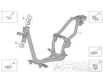 28.01 Rám - Scarabeo 100 4T E3 2010-2012 (ZD4VAA00..., ZD4VAC00...)