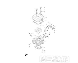 01 Hlava válce - Hyosung GF 125 Speed