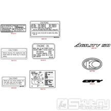 F22 Samolepky - Kymco Agility 50 City 4T
