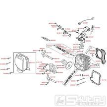 E02 Hlava válce a kryt ventilů - Kymco Like 200i