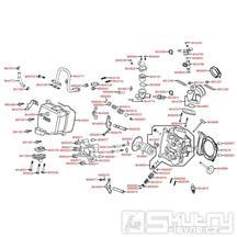 E02 Hlava válce - Kymco Xciting 300i R [SB60AB]