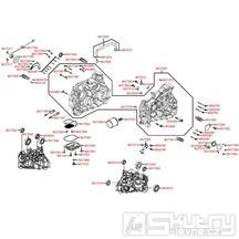 E01 Skříň klikové hřídele - Kymco Maxxer 400