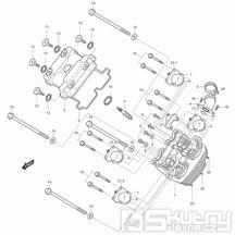 01v Hlava válce přední - Hyosung GT 125 R
