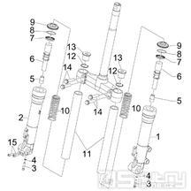 4.03 Přední kyvná vidlice (Kayaba) - Gilera Runner 125 VX 4T 2007 (ZAPM46300)