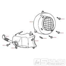 E01 Kryt ventilátoru / kryt válce - Kymco Yager 50 (Spacer 50)