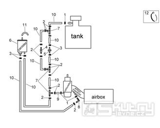 28.47 Palivový systém - Scarabeo 100 4T E3 2006-2009 (ZD4VAA..., ZD4VAC...)