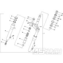 4.02 Přední kyvná vidlice, ložiska řízení - Gilera Runner 125 VX 4T 2005-2006 (ZAPM46100)
