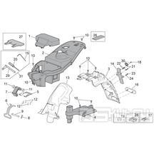 28.13 Plast pod sedačkou, zadní blatník - Scarabeo 100 4T E3 2010-2012 (ZD4VAA00..., ZD4VAC00...)