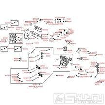 E02 Hlava válce a kryt ventilů - Kymco MXU 500 IRS DX LAA0DD