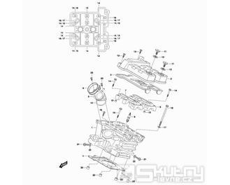 01h Hlava válce zadní -  Hyosung GT 650 N (Naked)