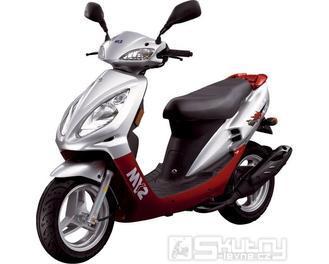 Sym JET EURO X 50 - barva červená
