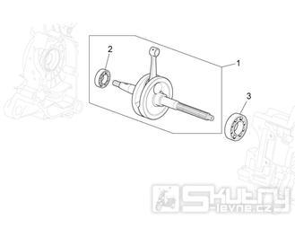 29.31 Kliková hřídel - Scarabeo 100 4T E3 2010-2012 (ZD4VAA00..., ZD4VAC00...)