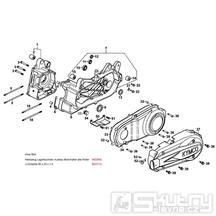 E01 Kliková skříň kompletní vč. variátorového krytu - Kymco Grand Dink 250