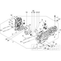 1.05 Skříň klikové hřídele - Gilera Runner 200 VXR 4T LC 2005-2006 (ZAPM46200)