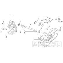 29.37 Skříň klikové hřídele - Scarabeo 50 2T (motor Minarelli) 1998 - ZD4PF00/1/2/3, ZD4PFA/B/C/D/E