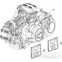 1.02 Motor - Gilera GP 800 2007-2008 (ZAPM5510...)
