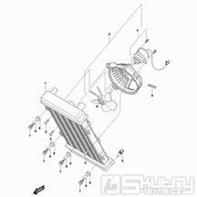03 Chladič / Ventilátor - Hyosung GV 650