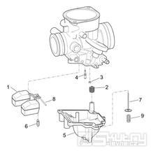 29.21 Karburátor - Scarabeo 50 4T 2V E2 2006-2009 (ZD4TGA, ZD4TGB)