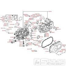 E01 Kryt klikové skříně / Kryt variátoru - Kymco MXU 500 IRS