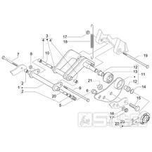 4.01 Uložení motoru - Gilera Nexus 250 4T LC 2006 (ZAPM35300)