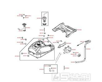 F10 Nádrž a palivoměr - Kymco MXU 500 IRS DX LAA0DD
