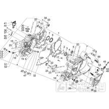 1.05 Skříň klikové hřídele - Gilera GP 800 2007-2008 (ZAPM5510...)