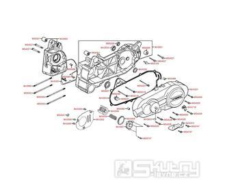 E01 Kliková skříň / Kryt variátoru - Kymco Yager GT 200i