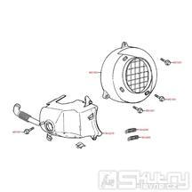 E01 Kryt chlazení motoru - Kymco Agility 50 RS 2T Naked KE10BB