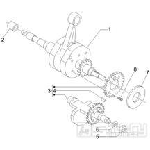 1.06 Kliková hřídel -  Gilera Fuoco 500ccm E3 2007-2013 (ZAPM61100...)